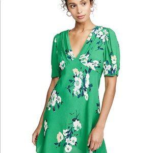 Free People: Neon Garden Mini Dress